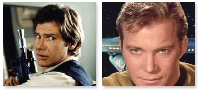 Persone famose con gli apparecchi acustici : Han Solo o Capitano Kirk